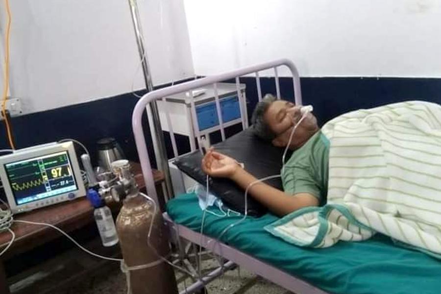 प्रदेश सांसद डिल्लीबहादुर चौधरी अस्पताल भर्ना