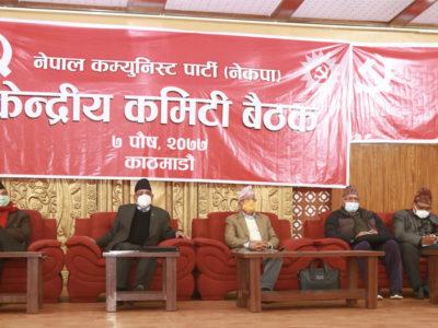 नेकपाको दुवै गुटको छुट्टाछुट्टै भेला, ओलीलाई हटाएर माधव नेपाललाई अध्यक्ष बनाउने प्रचण्ड-नेपाल समूहको निर्णय
