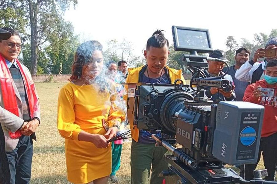 थारु भाषाको चलचित्र 'बिरा' को छायाङ्कन सुरु