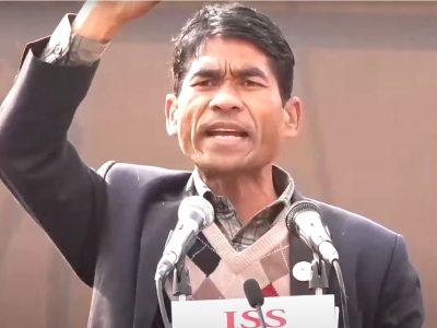 बीसौं लाख थारुहरुले केपी ओलीलाई बालुवाटारबाट फ्याँक्नेछन् : सन्तकुमार थारु