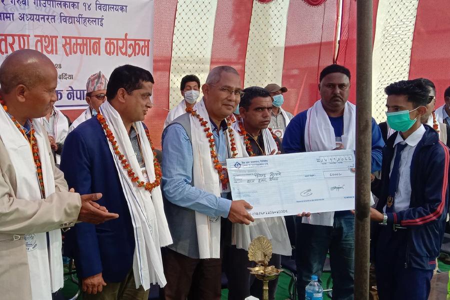 युनिक नेपालद्वारा ९ लाखको छात्रवृत्ति प्रदान, पूर्वमन्त्री डा. गोपाल दहितद्वारा वितरण