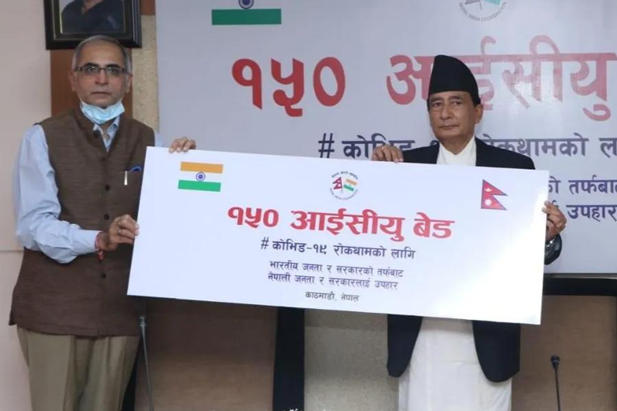 भारत सरकारद्वारा नेपाललाई १५० थान आइसीयु बेड सहयोग