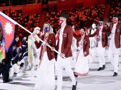 टोकियो ओलम्पिकको भव्य उद्घाटन, एथलेटिक्सबाट खेल्दैछिन् सरस्वती चौधरी
