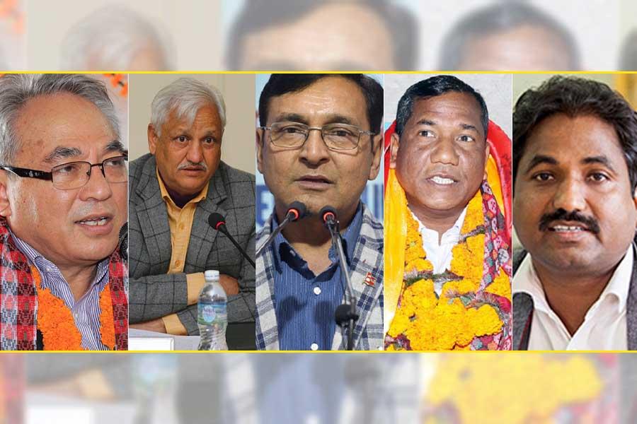 माओवादी केन्द्र खारेजको माग गर्दै गौरीशंकर चौधरीसहितका नेताले दिए निवेदन