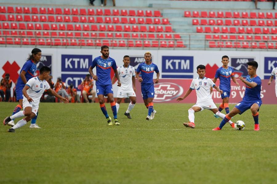 नेपाल भारतसँग २-१ गोलले पराजित