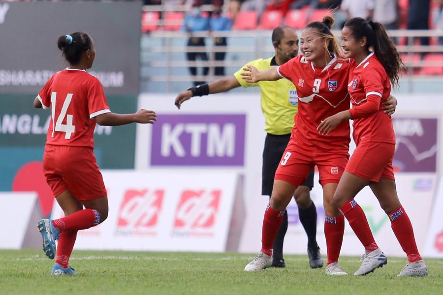 बंगलादेशविरुद्ध नेपाल विजयी, बिमला चौधरीको पासमा भएको थियो पहिलो गोल